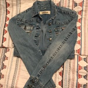 3 FOR $10 Hydraulic Jeans Cropped Denim Jacket